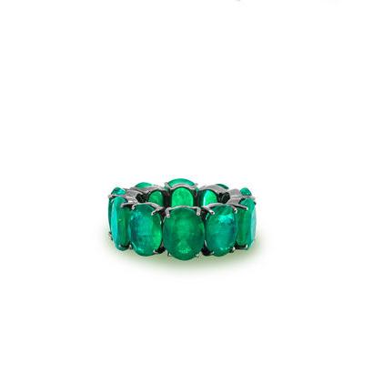 635c0bc7091 + Detalhes · imagem de Aliança de ouro com dez esmeraldas ovais